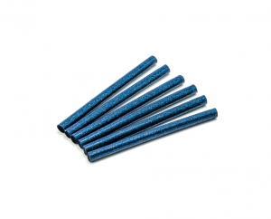 Tyčinka do tavné pistole modrá trpytivá (glitr) 7,5mm 1ks