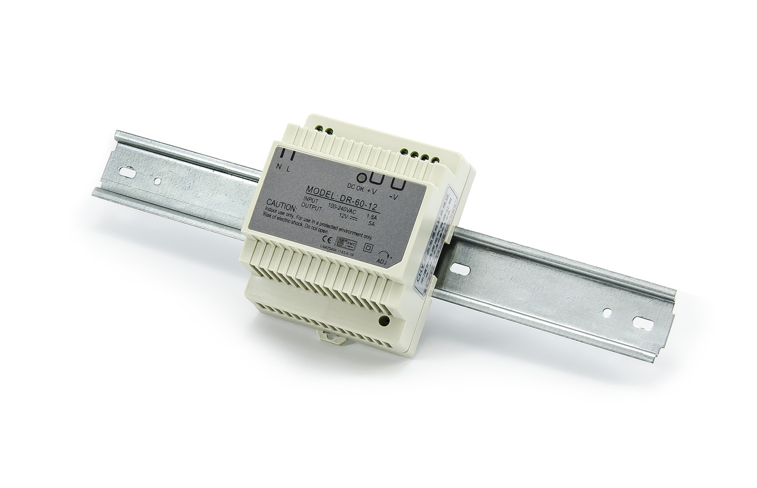 Spínaný rozvaděčový zdroj DR-60-12 12V 5A 60W