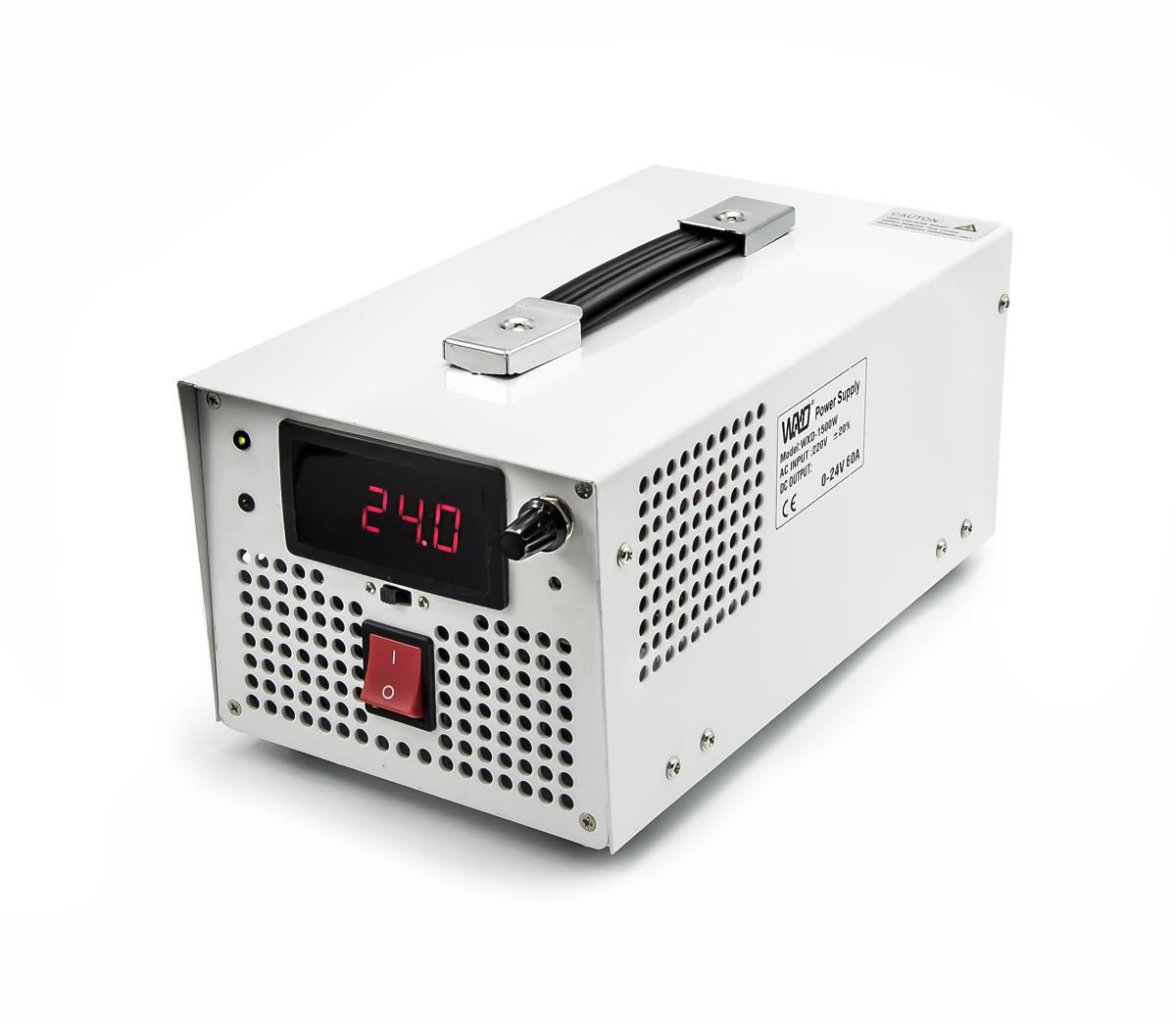 Průmyslový zdroj WXD-1500W s regulací napětí 3 - 24V, 60A, 1500W