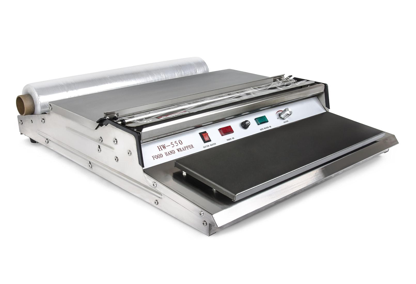 Ruční balící pult HW-550 pro průtažné stretch fólie s tavnou lištou