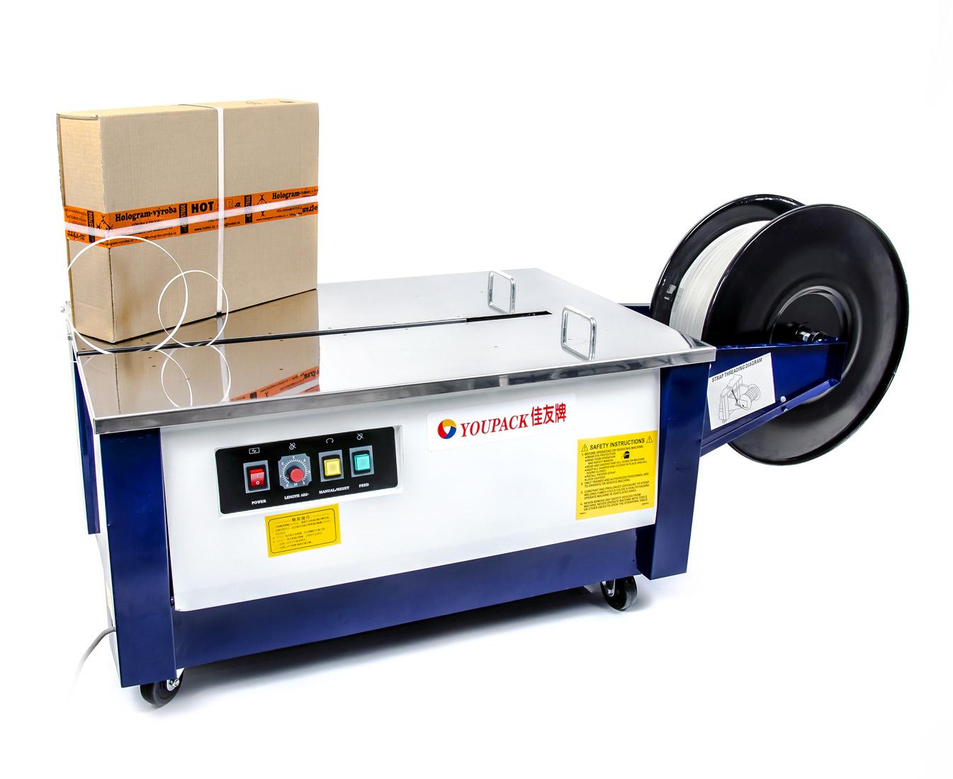 Páskovací stroj YouPack KZBD pro PP pásky, poloautomatický, snížený