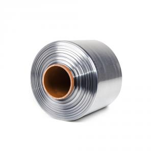 Teplem smštitelná PVC fólie - polorukáv, 30micron, šířka 150mm, délka 400m