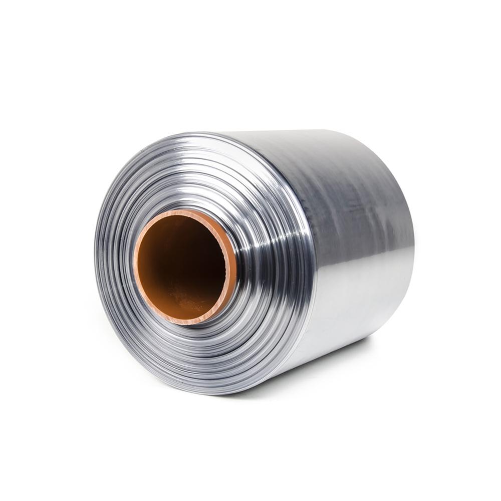Teplem smštitelná PVC fólie - polorukáv, 30micron, šířka 200mm, délka 400m