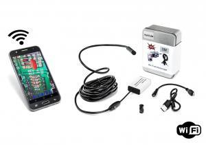 Endoskopická Wi-Fi kamera s voděodolností IP66 a tvrdým ohebným kabelem 5m