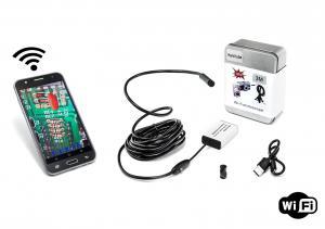 Endoskopická kamera s WiFi modemem a krytím IP66 s tvrdým ohebným krkem 3.5m