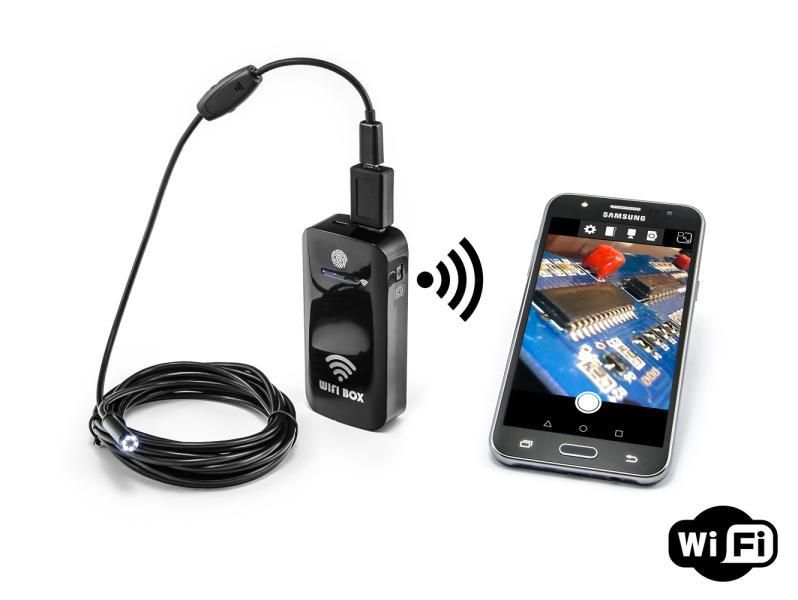 WiFi transmitter a powerbanka pro USB endoskopy 2000mAh