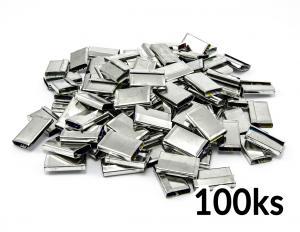 Spony vázací plechové pro páskování PP a PET pásky do 16mm 100ks