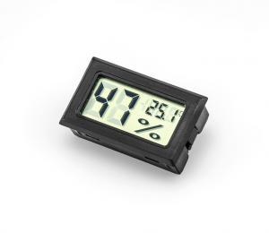Panelový LCD vlhkoměr s teploměrem černý