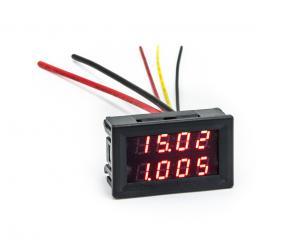 Panelový ampérmetr s voltmetrem 200V 10A