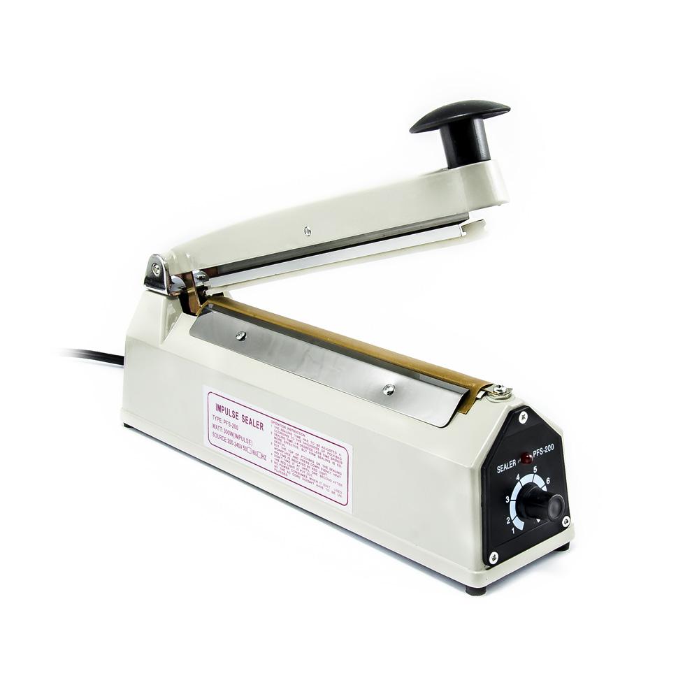 Impulsní svářečka fólií PFS-200X se širokým svarem 8mm, délka 200mm