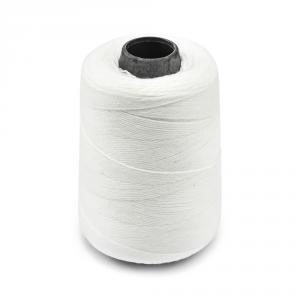 Průmyslová bílá polyesterová (PES) šicí nit pro pytlovačky 700m