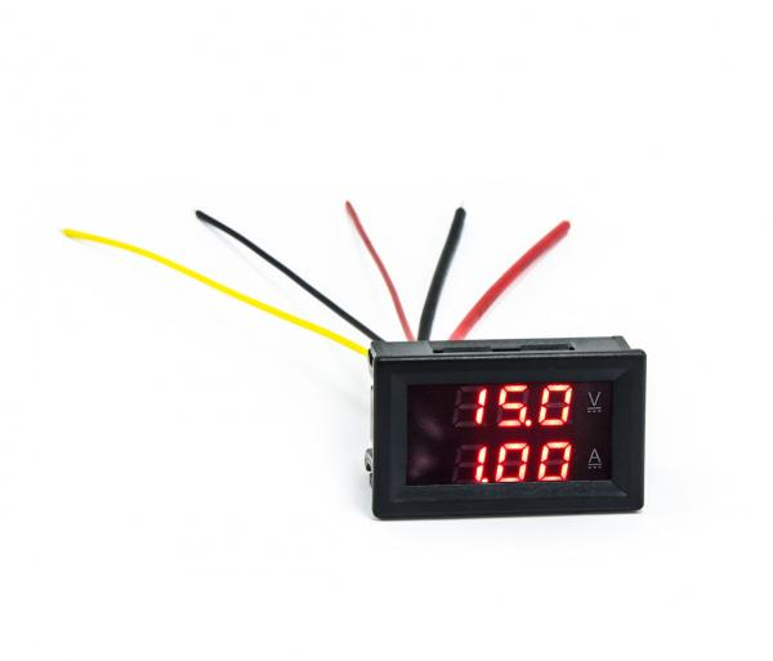 Panelový multimetr 50V 10A