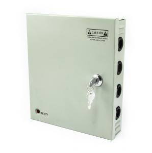 Rozvodná kovová skříň pro modulový zdroj s jištěním 9 výstupů
