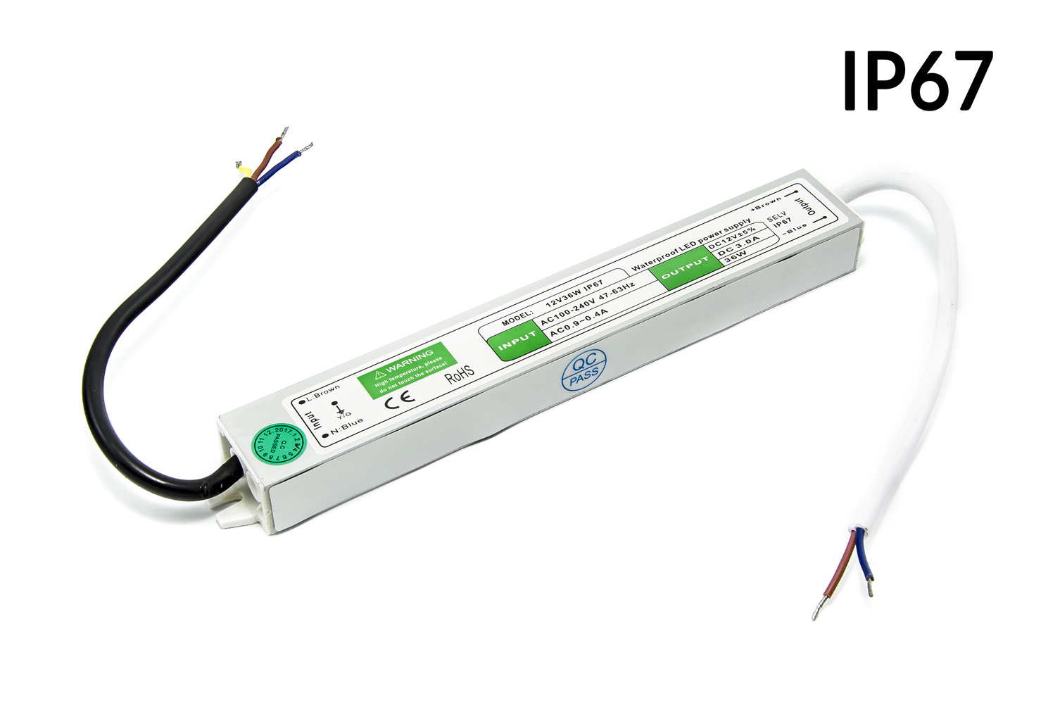 Voděodolný LED transformátor 12V 3A 36W
