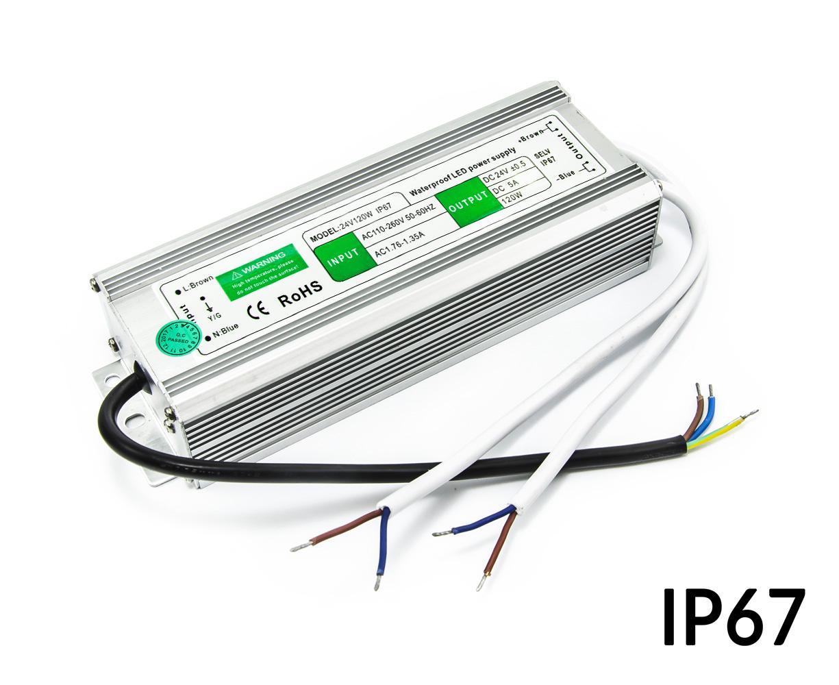Napájecí zdroj venkovní IP67 24V 5A 120W