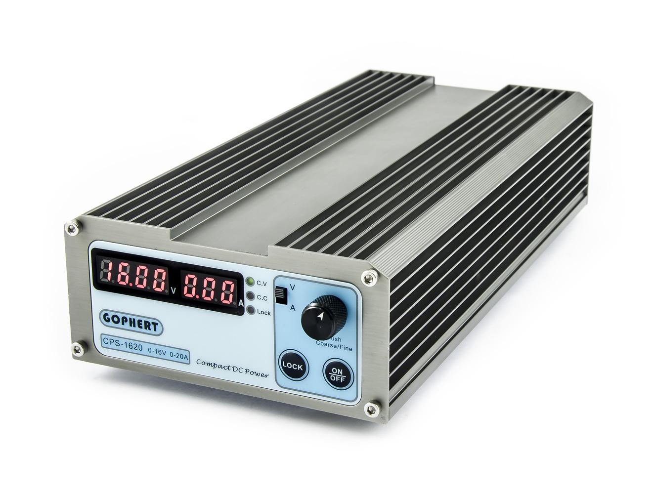 Spínaný laboratorní zdroj Gophert CPS-1620 0-16V/20A