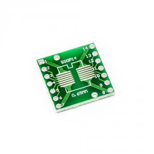 PCB redukce z SOP14 0.65mm, SSOP14 1.27mm na DIP 2.54mm