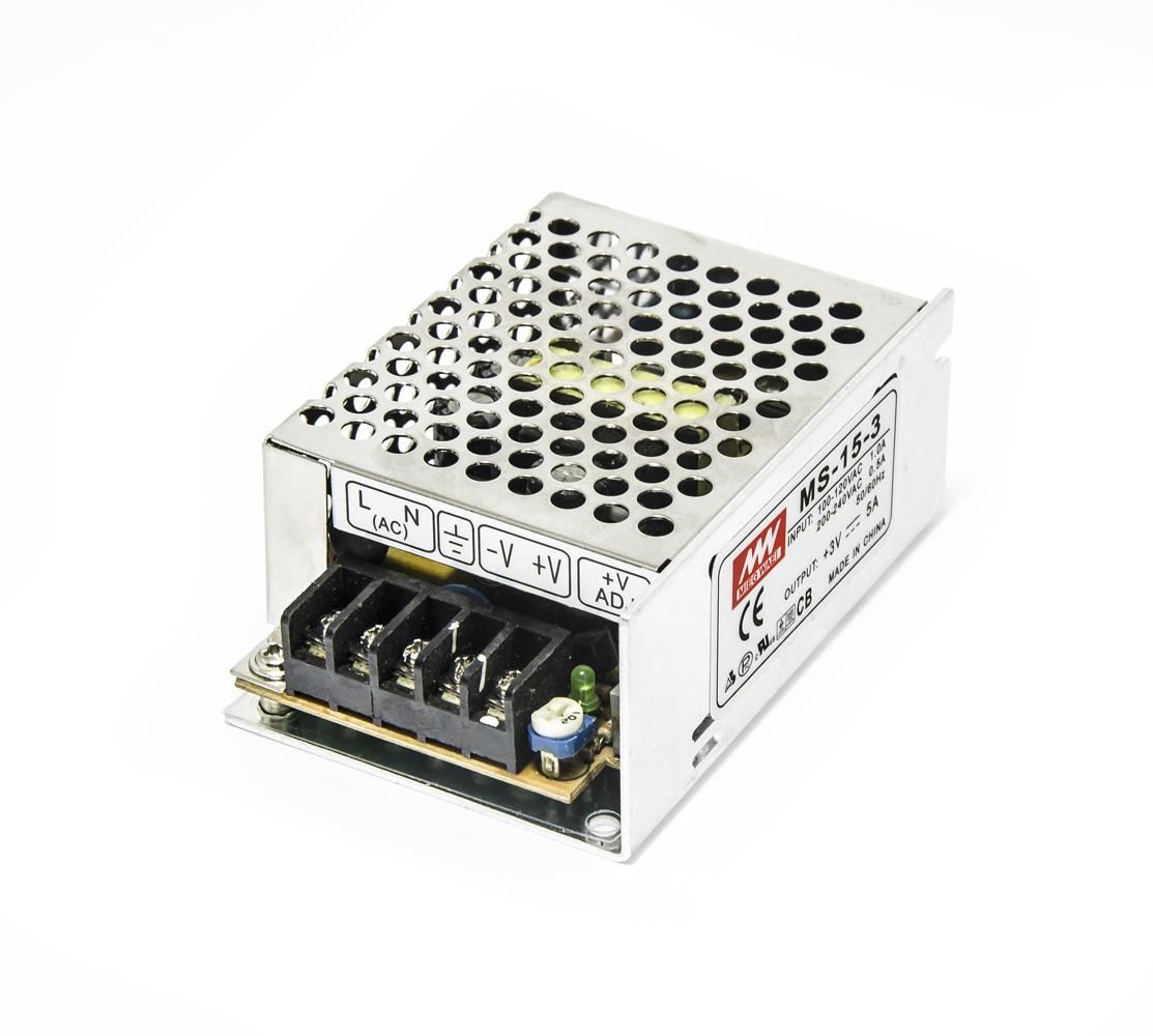 Modulový průmyslový zdroj MW MS-15-3 3V 5A 15W