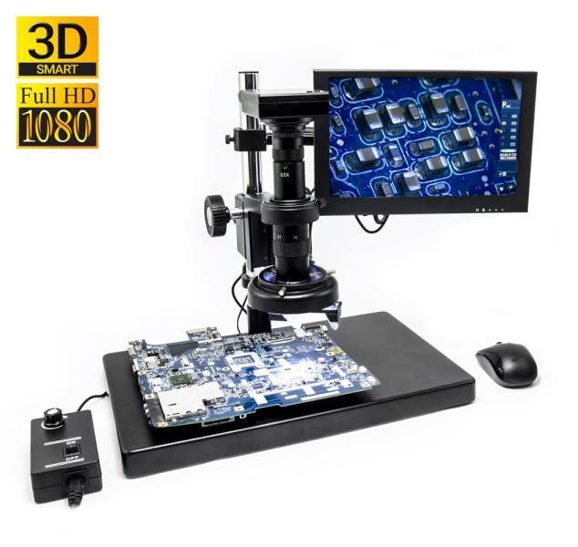 3D SMART mikroskop ALL-IN-ONE 1080p s měřením a bezdrátovou myší