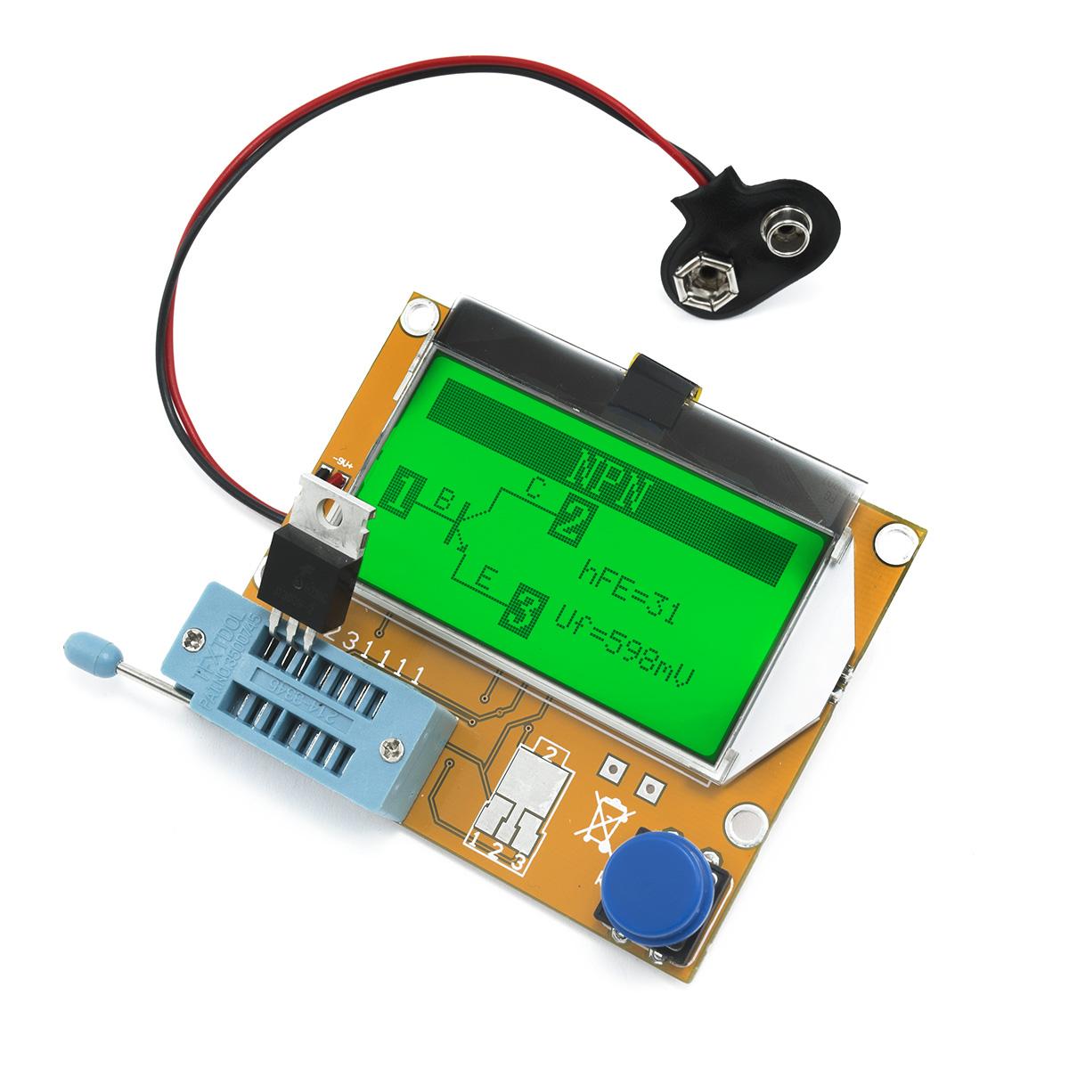 Automatický tester RLC, ESR a polovodičových součástek DIY
