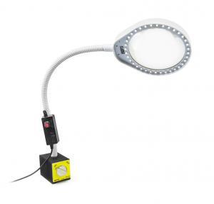 LED lampa s lupou PDOK PD-032B bílá 8D 3x zvětšení s magnetickou základnou