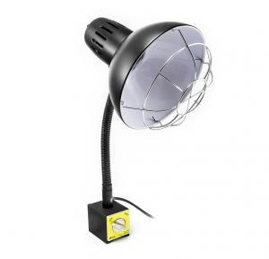 Strojní ohebná lampa s magnetem a ochrannou mříží PDOK PD-043