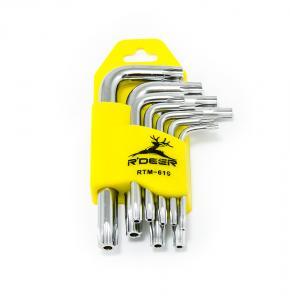 Sada hvězdicových klíčů TORX s otvorem R'DEER 9ks
