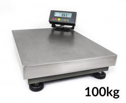 Nerezová platformová (plošinová) digitální váha 10g / 100kg