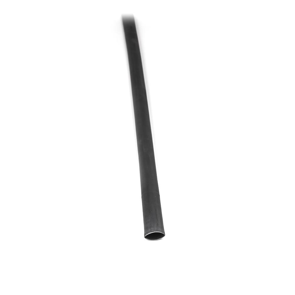 Teplem smrštitelná lepící bužírka černá 120cm 15mm