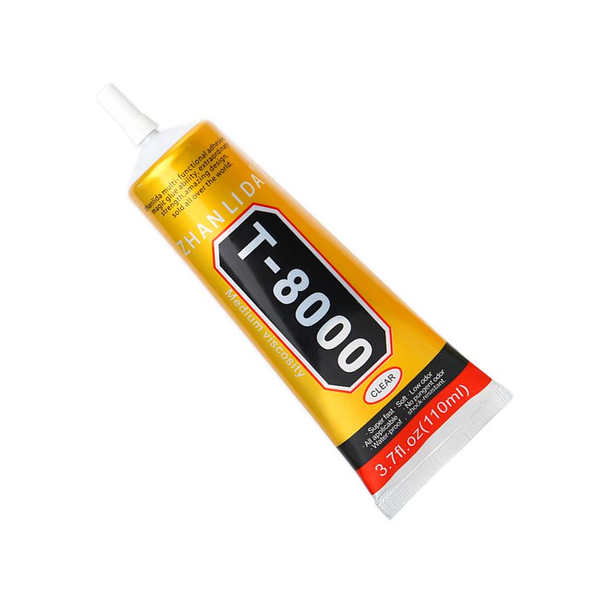 Univerzální lepidlo Zhanlida T-8000 pružné průhledné 110ml