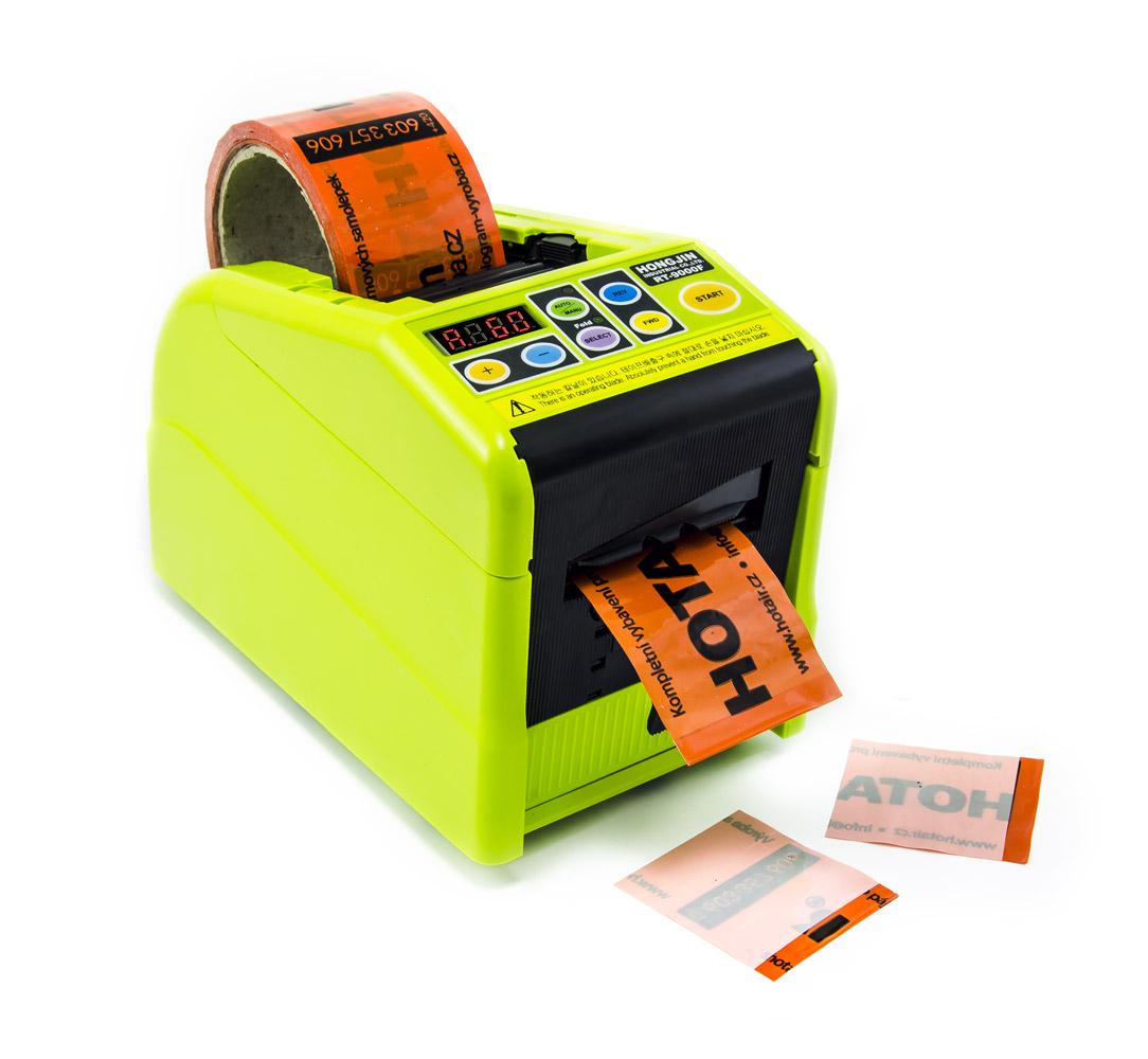 Dávkovač lepících pásek s výrobou nelepivých konců a makry RT-9000F