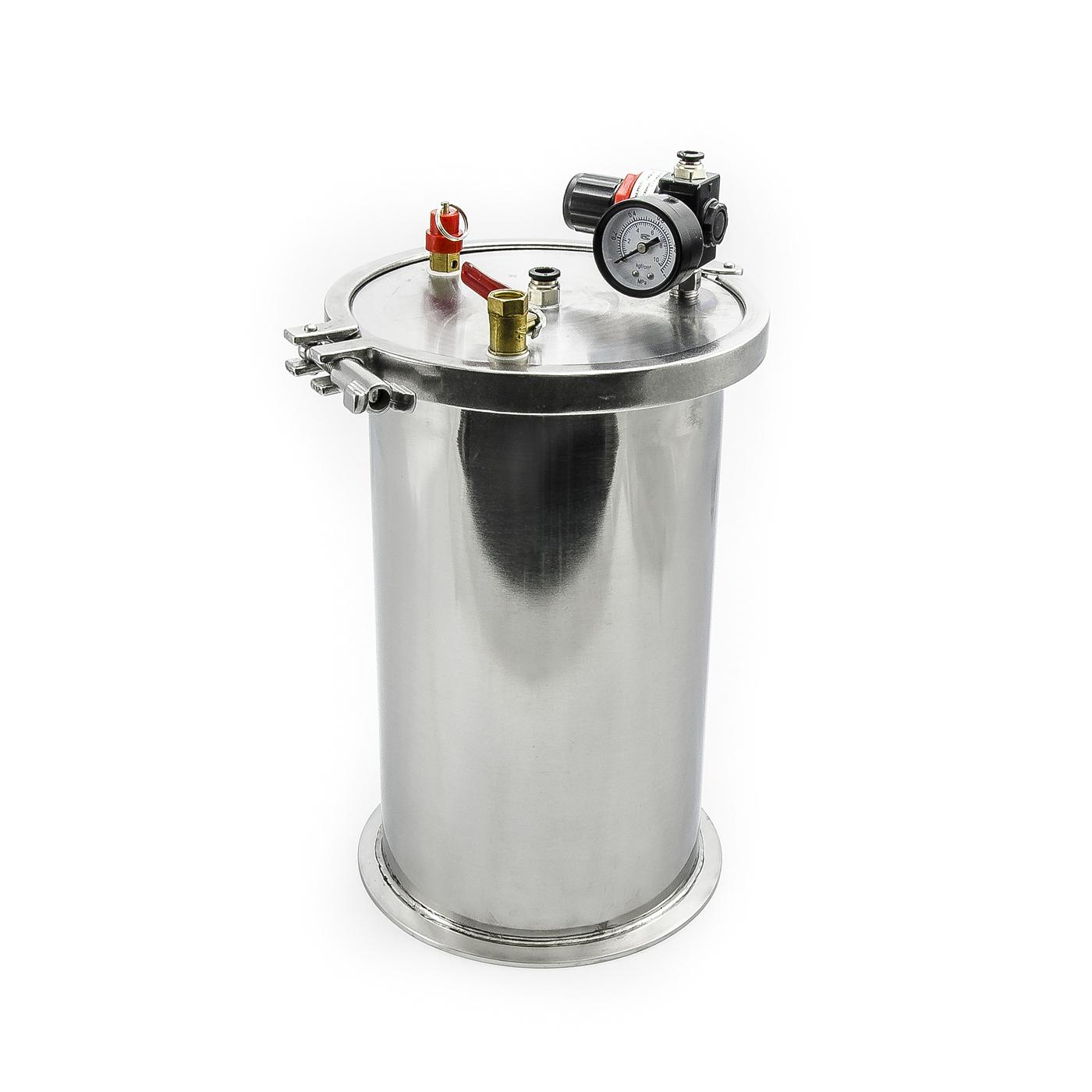 Nerezové nádrže pro průmyslové dávkování tekutin 5l