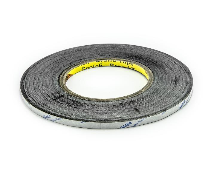 Oboustranná lepící páska černá šíře 3mm