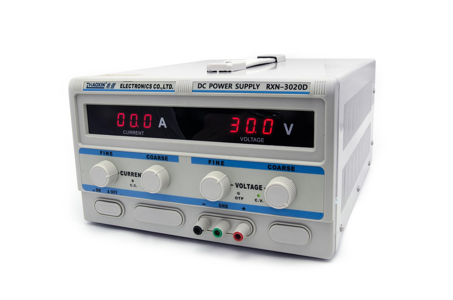 Laboratorní transformátorový zdroj RXN-3020D 0-30V/20A
