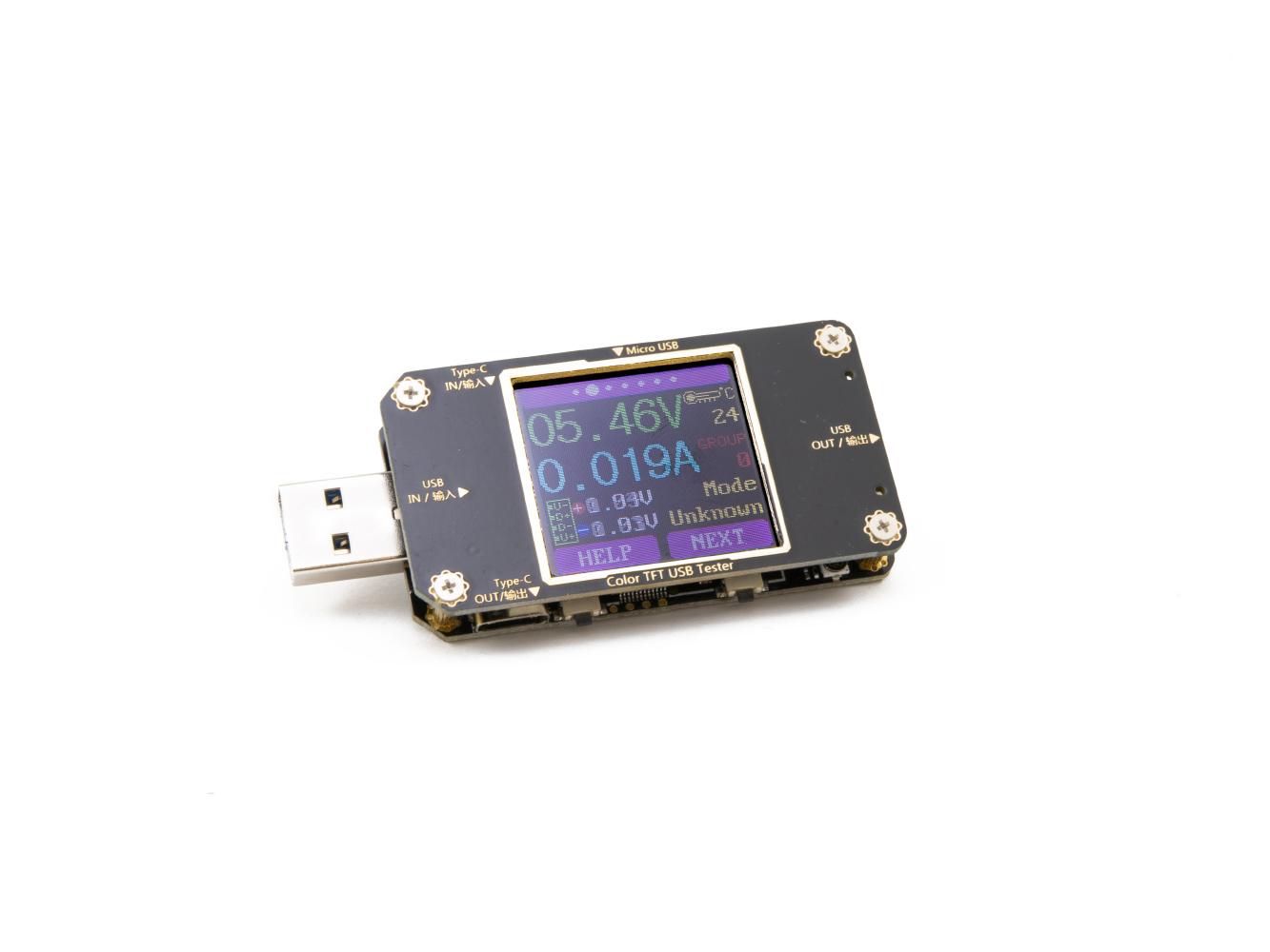 Profesionální USB multimetr s barevným LCD, PC software, bluetooth