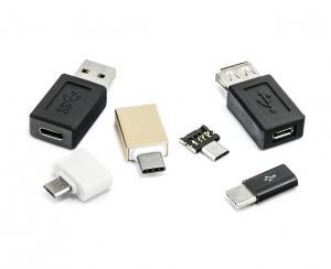 Sada 6 USB redukcí - micro USB, USB-C (type-C), USB