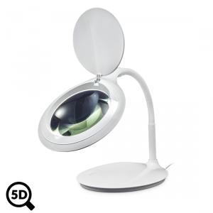Stolní LED lampa IB-9101 s lupou 122mm, regulací a zvětšením 2.25x, 5D