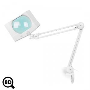 Servisní LED lampa Mega s regulací a velkoplošnou lupou 8D