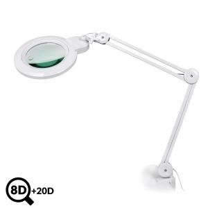 Servisní LED lampa s lupou IB-178, průměr 178mm, 8D + 20D
