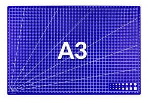 Řezná pracovní podložka modrá A3 45x30cm