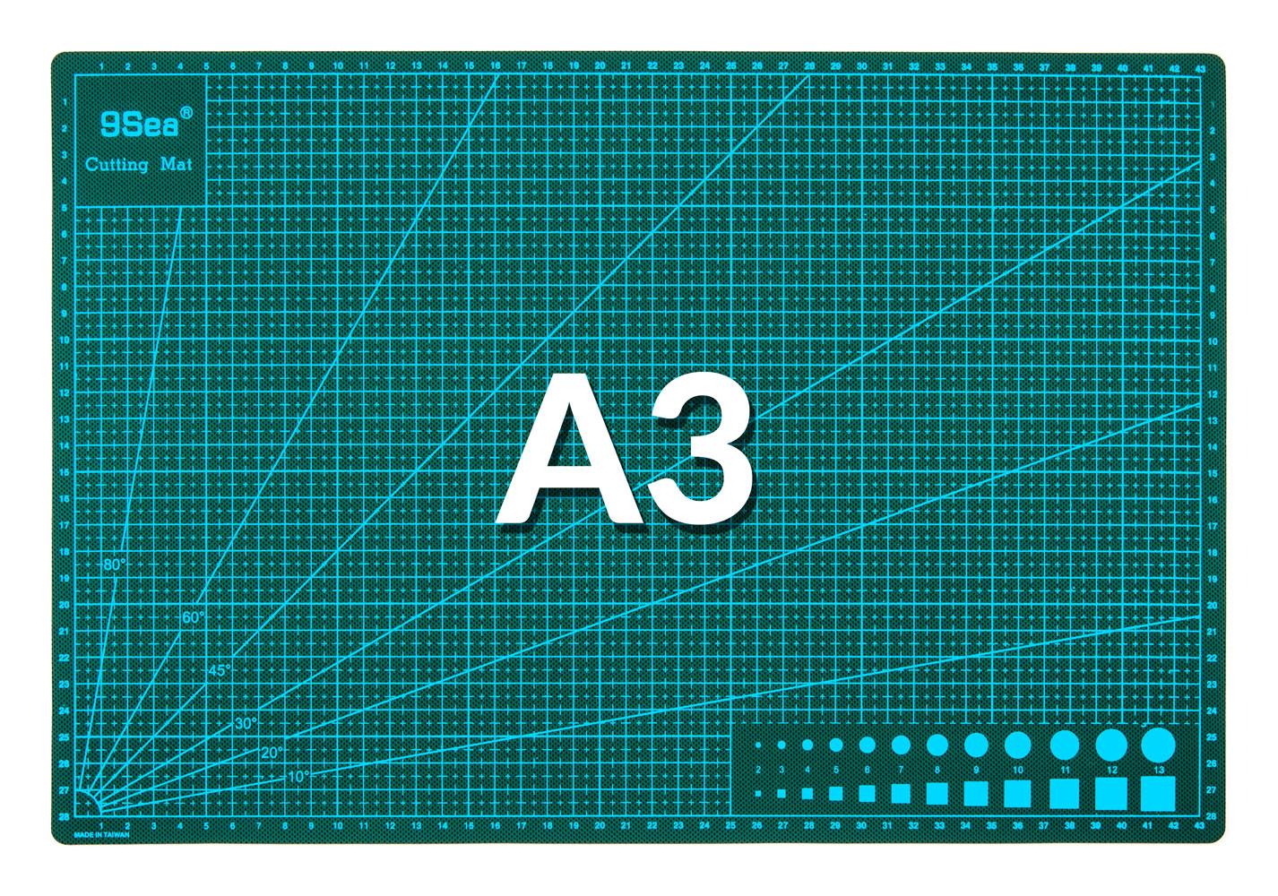 Řezací pracovní podložka oboustranná zelená A3 45x30cm