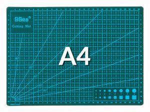 Pracovní podložka na řezání oboustranná zelená A4 30x22cm