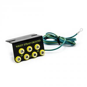 ESD uzemňovací box (svorkovice) - 7x přípojný bod, 4mm banán