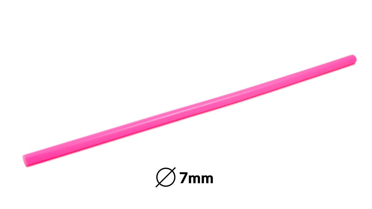 Náplň tavná růžová do lepící pistole průměr 7mm 1ks
