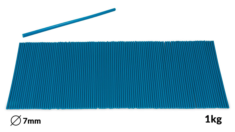 Náplně tavné modré do lepící pistole průměr 7mm 1kg
