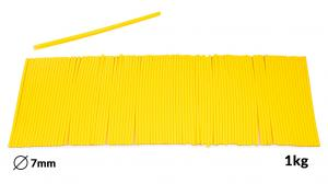 Náplně tavné žluté do lepící pistole průměr 7mm 1kg