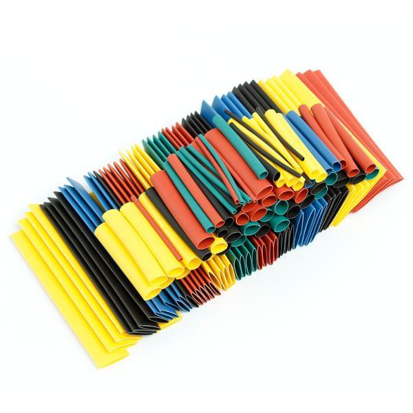 Sada barevných smršťovacích bužírek, různé průměry, 328ks