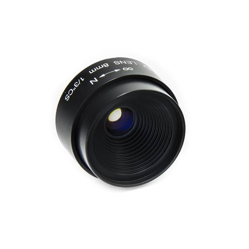 CCTV objektiv CS-Mount ohnisko 8mm, světelnost F1.2