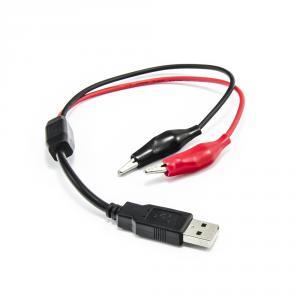 Testovací USB kabel samec - napájecí krokosvorky 30cm