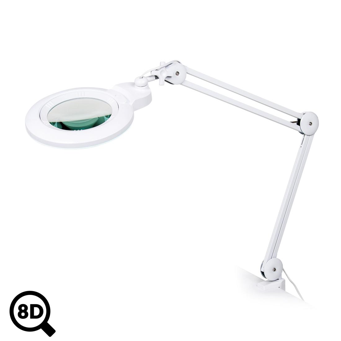 Pracovní LED lampa s lupou IB-150, průměr 150mm, 8D